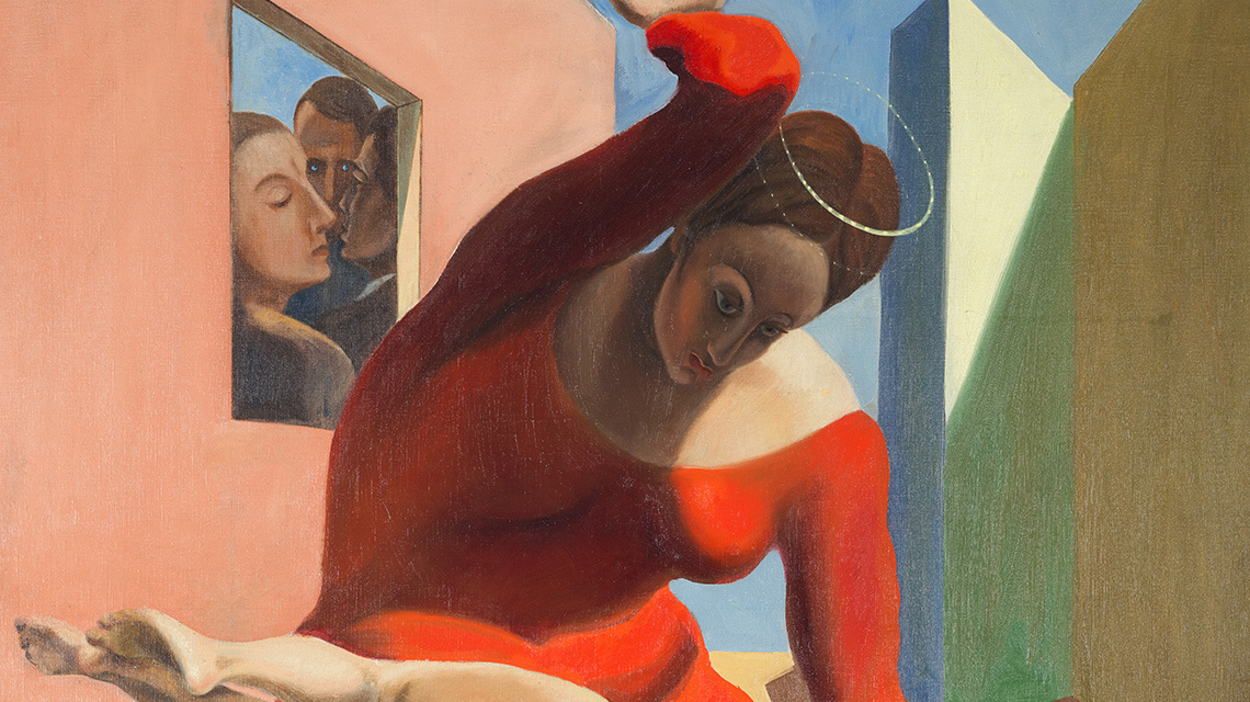 Max Ernst - Die Jungfrau züchtigt das Jesuskind vor drei Zeugen